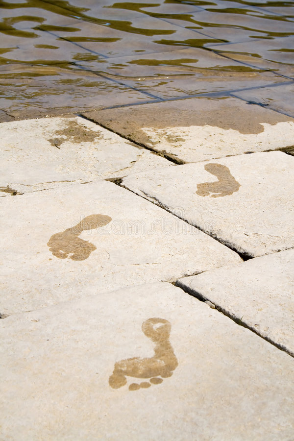 Τυπωμένη ύλη ποδιών. στοκ φωτογραφία με δικαίωμα ελεύθερης χρήσης