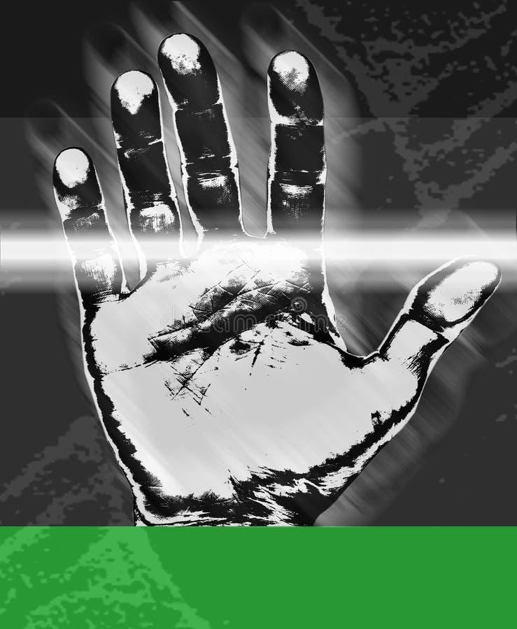 τυπωμένη ύλη χεριών διανυσματική απεικόνιση