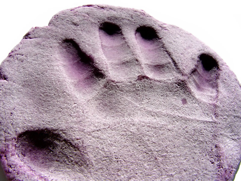 τυπωμένη ύλη χεριών Playdough Στοκ Φωτογραφία