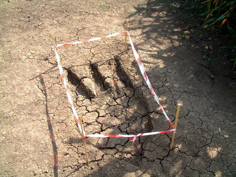 Download Τυπωμένη ύλη 2 ποδιών στοκ εικόνες. εικόνα από χώμα, έσπασαν - 96880