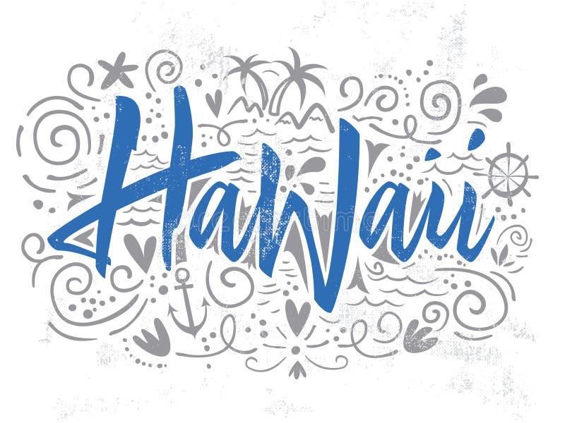 Τυπωμένη ύλη για την μπλούζα Χαβάη απεικόνιση αποθεμάτων