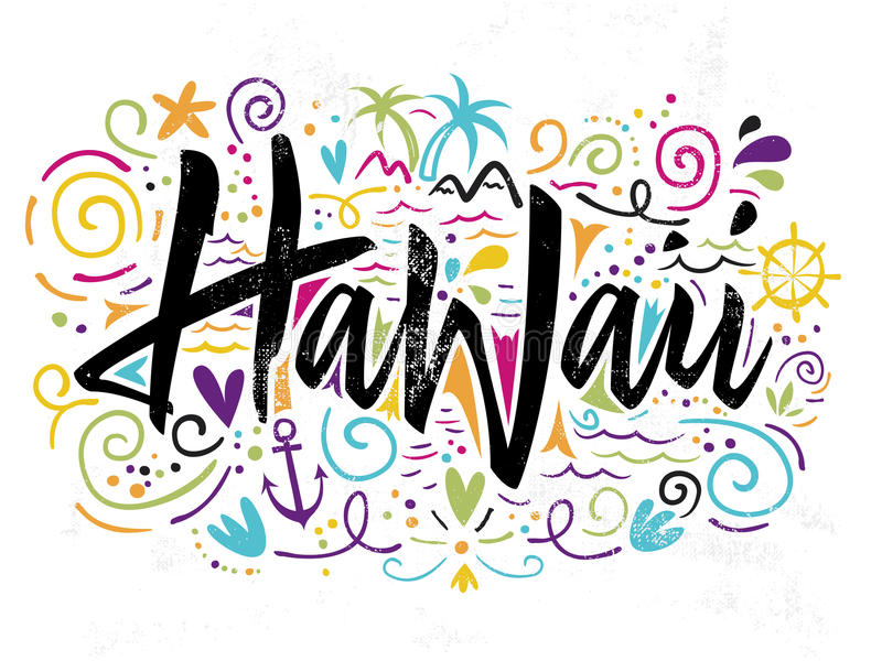 Τυπωμένη ύλη για την μπλούζα Χαβάη ελεύθερη απεικόνιση δικαιώματος