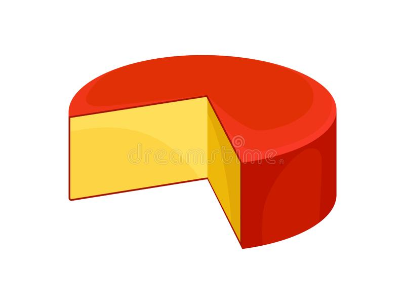 Τυρί γκούντα στο άσπρο υπόβαθρο επίσης corel σύρετε το διάνυσμα απεικόνισης ελεύθερη απεικόνιση δικαιώματος