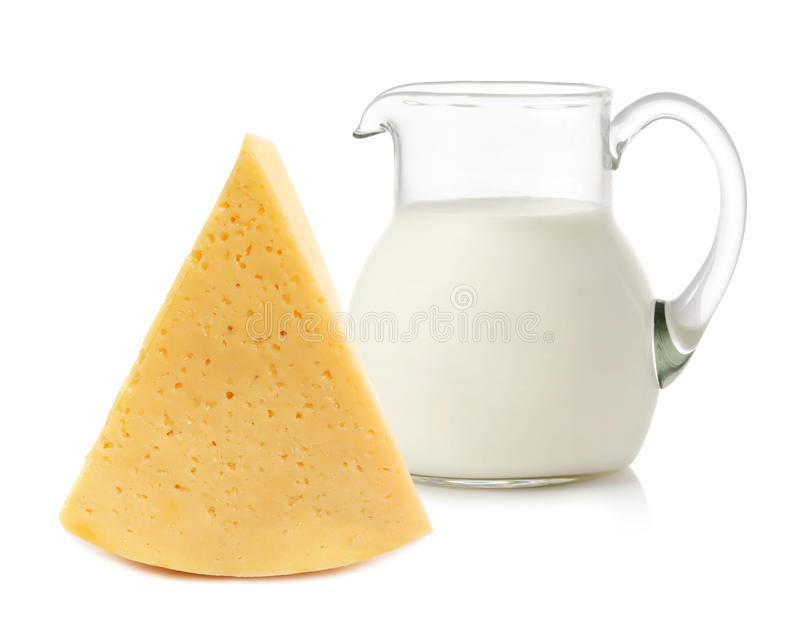 Τυρί και γάλα στοκ φωτογραφία με δικαίωμα ελεύθερης χρήσης