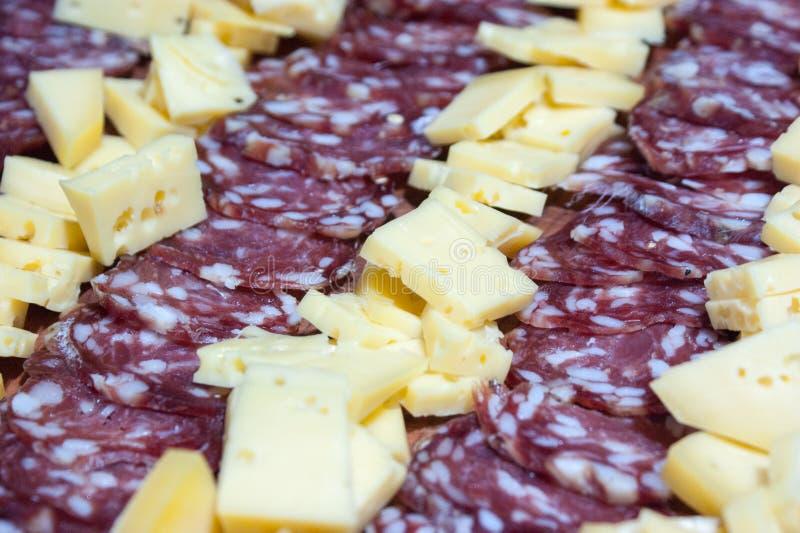 τυρί και σαλάμι, λιχουδιές από την Αργεντινή στοκ φωτογραφία με δικαίωμα ελεύθερης χρήσης