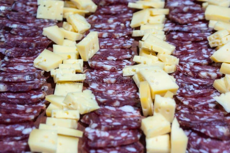 τυρί και σαλάμι, λιχουδιές από την Αργεντινή στοκ εικόνες με δικαίωμα ελεύθερης χρήσης