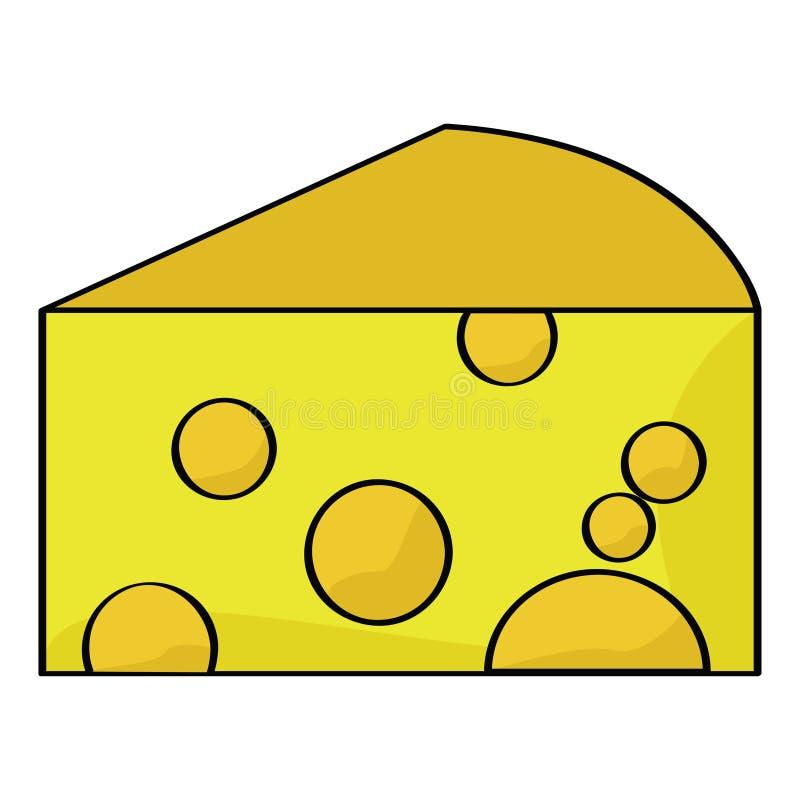 τυρί κινούμενων σχεδίων απεικόνιση αποθεμάτων