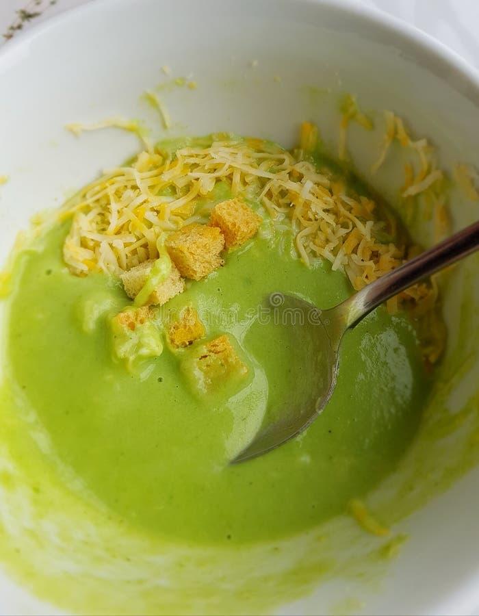 Τυρί μπρόκολου soupe στοκ φωτογραφίες
