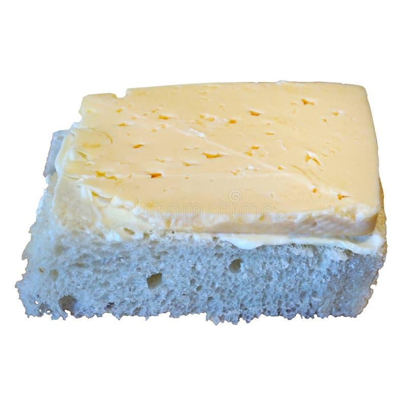Τυρί πετρελαίου φραντζολών ψωμιού σάντουιτς προγευμάτων στοκ φωτογραφία