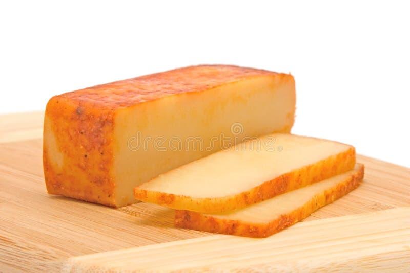 τυρί που καπνίζεται στοκ φωτογραφίες