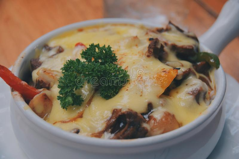 Τυρί Doria βόειου κρέατος στοκ εικόνες