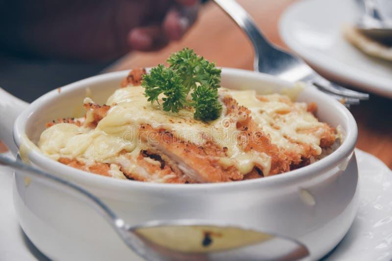 Τυρί Doria κοτόπουλου στοκ φωτογραφίες