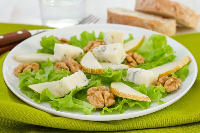 Τυρί gorgonzola με το αχλάδι στοκ εικόνα