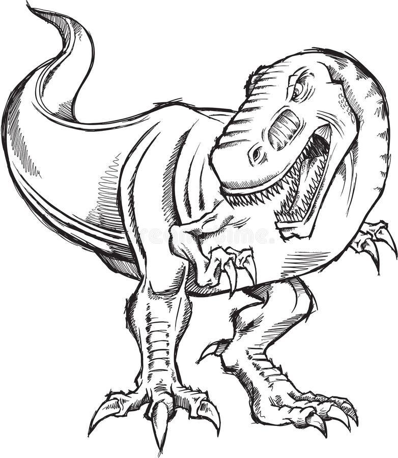 τυραννόσαυροι σκίτσων δ&epsi απεικόνιση αποθεμάτων