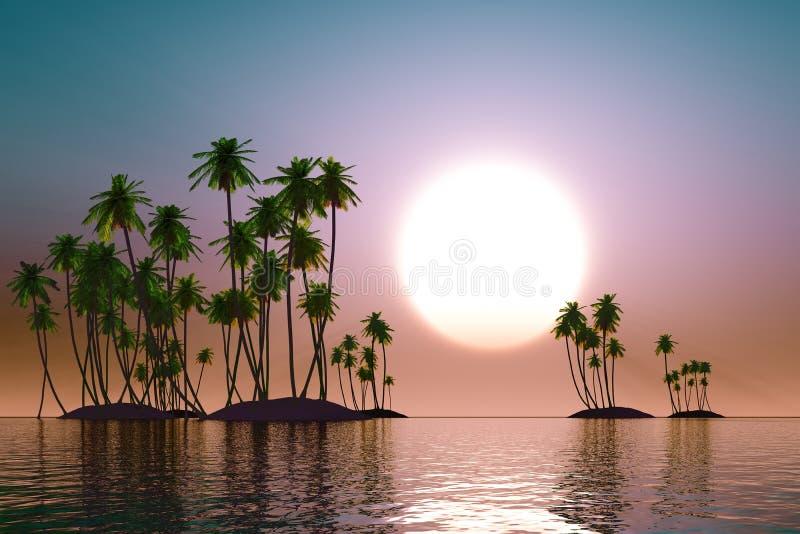 Τυρκουάζ ηλιοβασίλεμα απεικόνιση αποθεμάτων