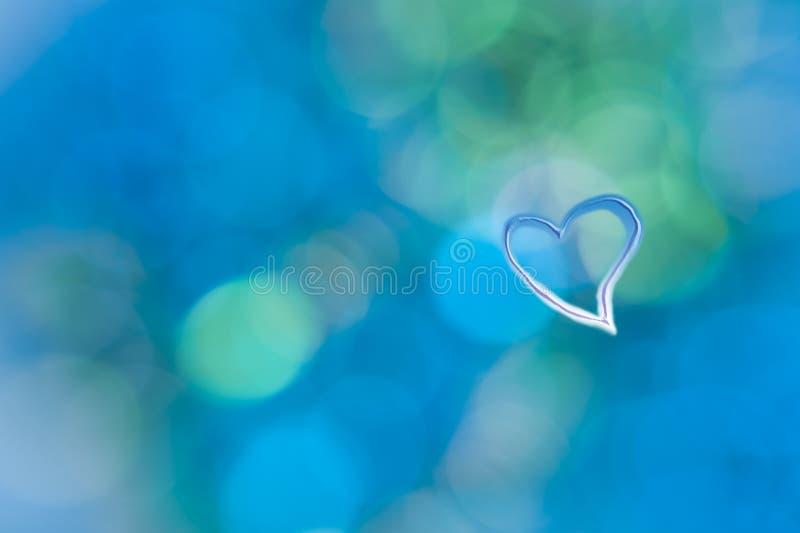 Τυρκουάζ μπλε αφηρημένη καρδιά ανασκόπησης grunge στοκ φωτογραφίες
