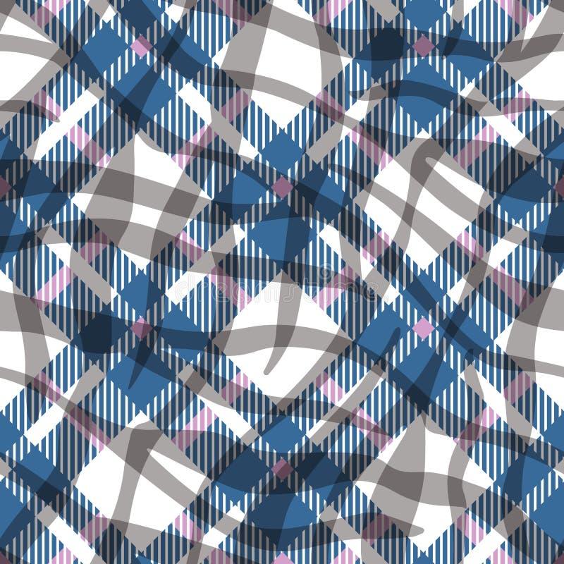 Τυρκουάζ μπλε, κόκκινο και άσπρο άνευ ραφής διανυσματικό σχέδιο ταρτάν χρώματος Ελεγμένη σύσταση καρό Γεωμετρικό απλό τετραγωνικό διανυσματική απεικόνιση