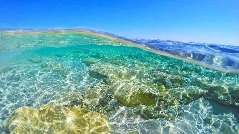 Τυρκουάζ νερό στη Σαρδηνία στοκ φωτογραφία