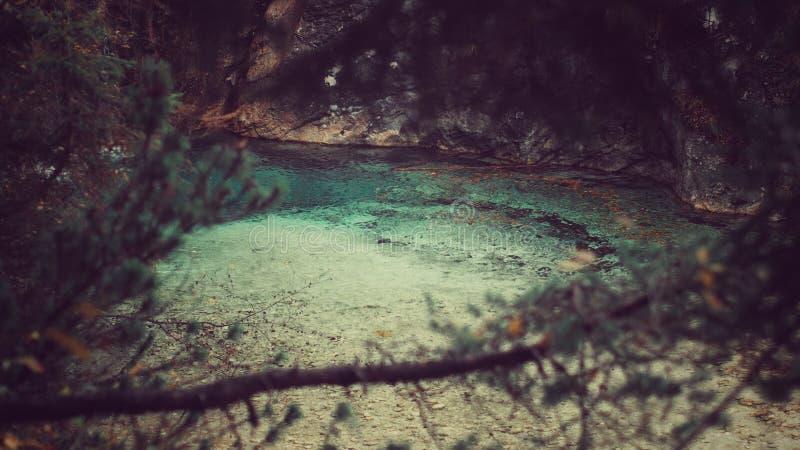 Τυρκουάζ ποταμός στοκ εικόνα με δικαίωμα ελεύθερης χρήσης