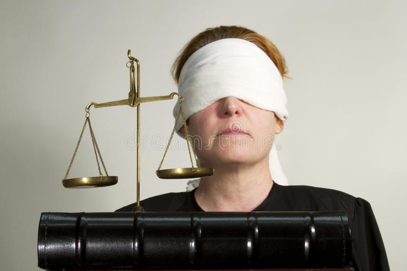 Τυφλή δικαιοσύνη στοκ φωτογραφία με δικαίωμα ελεύθερης χρήσης