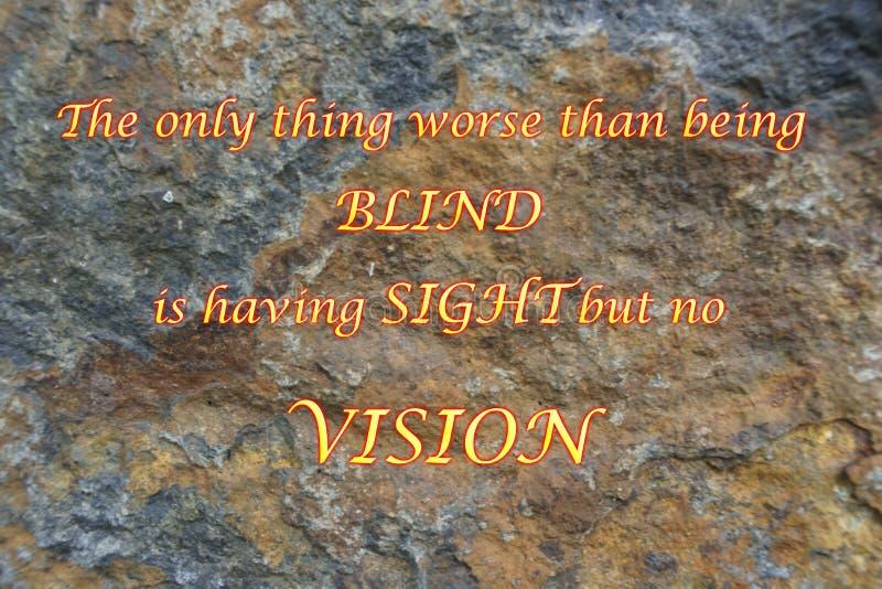 Τυφλός, θέα και όραμα απεικόνιση αποθεμάτων