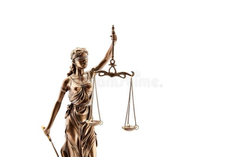 Τυφλό Justitia με Libra για τη δικαιοσύνη στοκ εικόνες