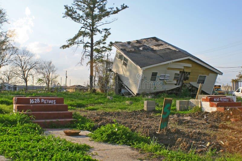 τυφώνας Νέα Ορλεάνη ζημίας στοκ φωτογραφίες