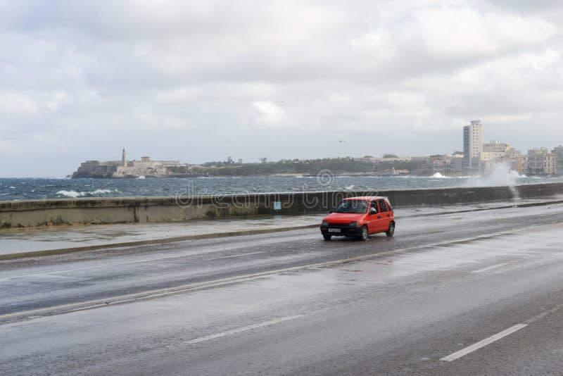 Τυφώνας στη EL Malecon στην Αβάνα στοκ φωτογραφία με δικαίωμα ελεύθερης χρήσης