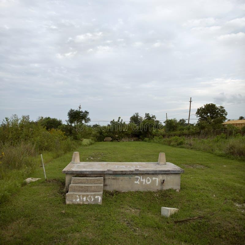 τυφώνας Katrina σπιτιών ιδρύματο&sig στοκ φωτογραφία