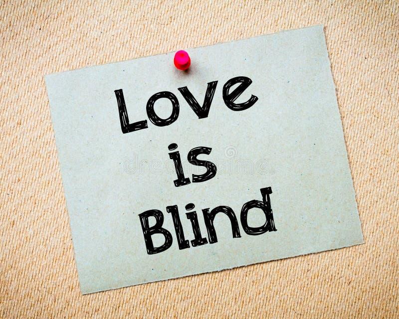 τυφλή αγάπη στοκ εικόνα με δικαίωμα ελεύθερης χρήσης