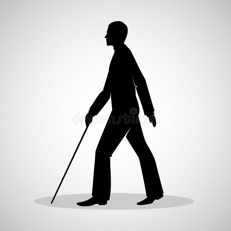 Τυφλό άτομο ελεύθερη απεικόνιση δικαιώματος
