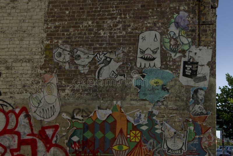 Τυχαία και διαφορετικά γκράφιτι στις οδούς του Σίδνεϊ στοκ φωτογραφία με δικαίωμα ελεύθερης χρήσης