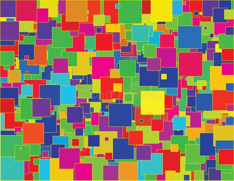 τυχαία τετράγωνα απεικόνιση αποθεμάτων