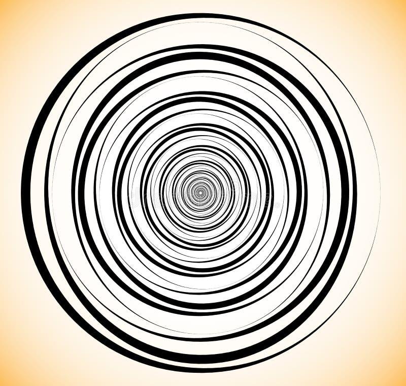 Τυχαίοι ομόκεντροι κύκλοι Αφηρημένη γεωμετρική σπείρα, στρόβιλος elem ελεύθερη απεικόνιση δικαιώματος
