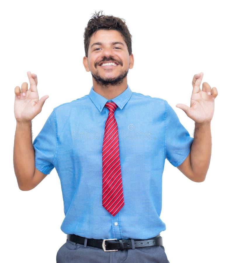 Τυχερός ισπανός επιχειρηματίας με μούσι στοκ φωτογραφία με δικαίωμα ελεύθερης χρήσης