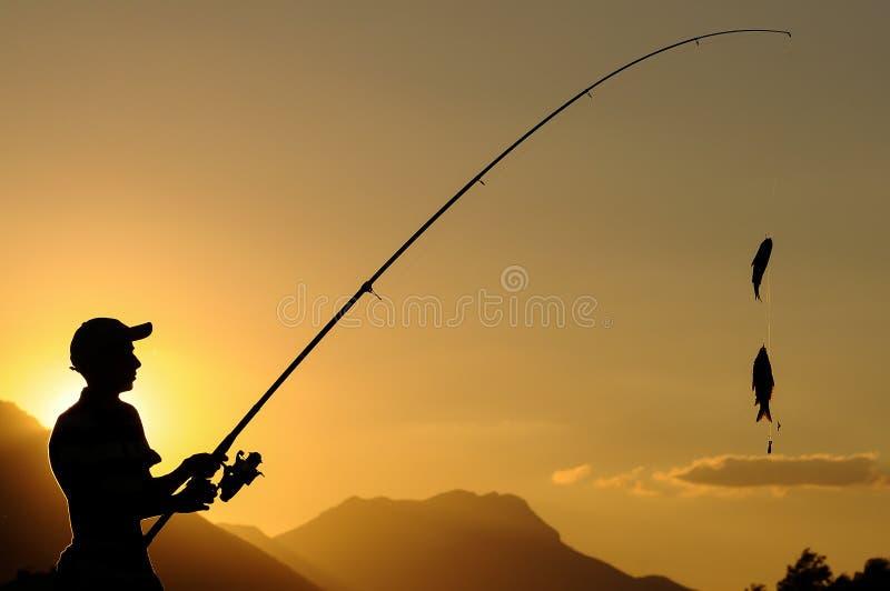 τυχερός ψαράς χόμπι στοκ εικόνες με δικαίωμα ελεύθερης χρήσης