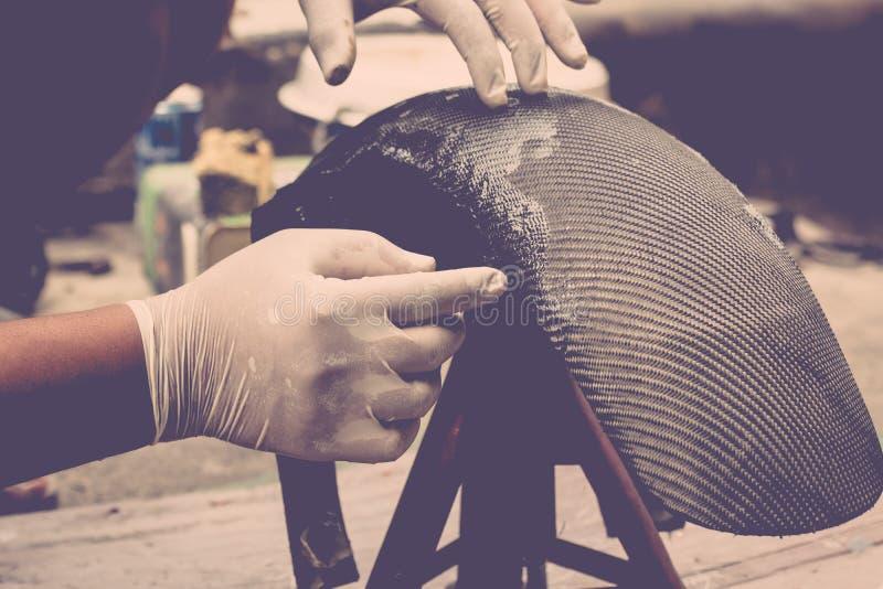 Τυλίγοντας ίνα άνθρακα ή kevlar στοκ εικόνα