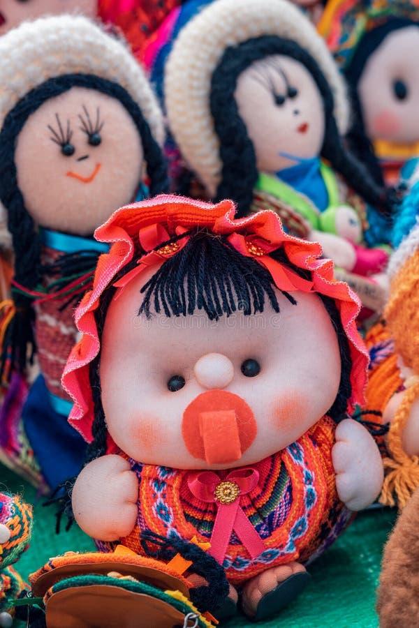 Των Άνδεων τέχνες κουκλών - Cajamarca Περού στοκ φωτογραφία με δικαίωμα ελεύθερης χρήσης