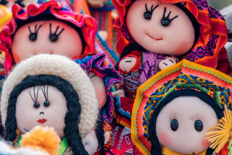 Των Άνδεων τέχνες κουκλών - Cajamarca Περού στοκ εικόνα με δικαίωμα ελεύθερης χρήσης