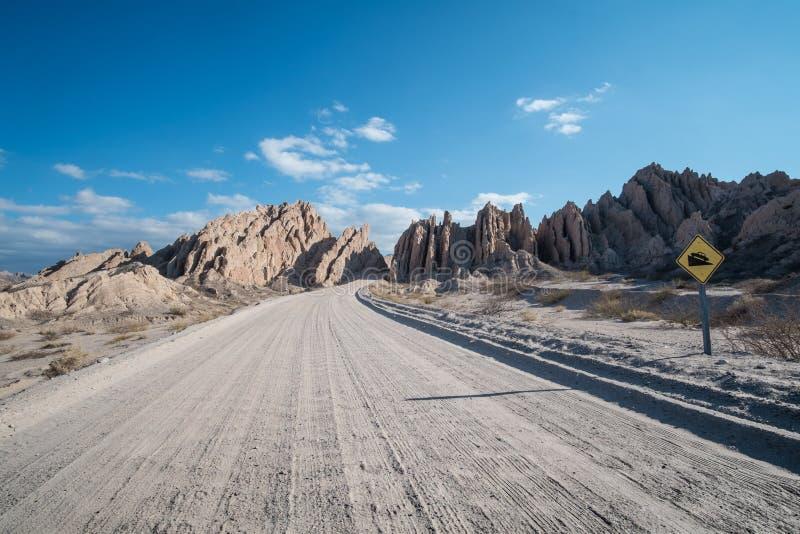 Των Άνδεων βρώμικος δρόμος στοκ φωτογραφίες με δικαίωμα ελεύθερης χρήσης
