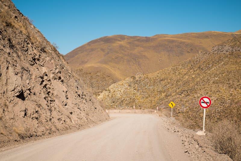 Των Άνδεων δρόμος στοκ εικόνες με δικαίωμα ελεύθερης χρήσης