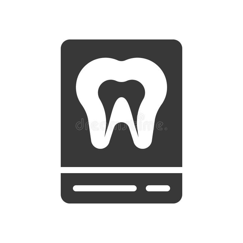 Των ακτίνων X ταινία δοντιών, οδοντικό σχετικό στερεό εικονίδιο απεικόνιση αποθεμάτων