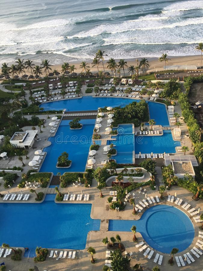 Των Μάγια άποψη playa παλατιών στοκ εικόνα με δικαίωμα ελεύθερης χρήσης