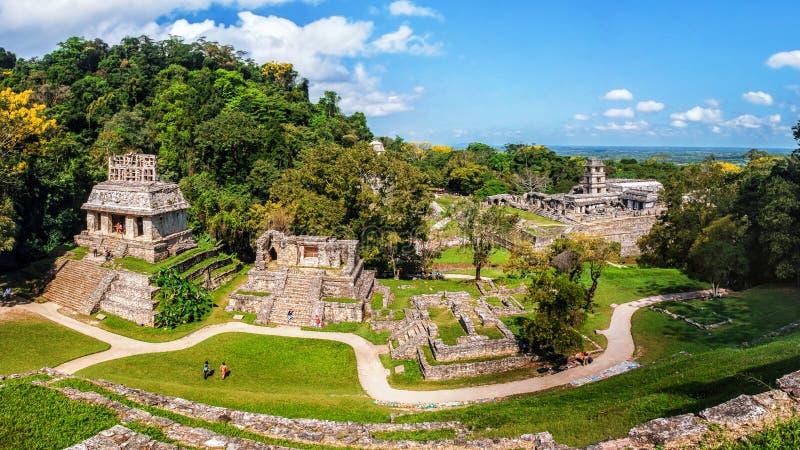 Των Μάγια καταστροφές σε Palenque, Chiapas, Μεξικό στοκ φωτογραφία με δικαίωμα ελεύθερης χρήσης