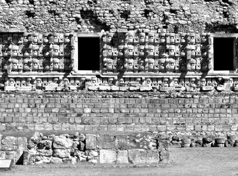 Των Μάγια καταστροφές Kabah μασκών Chac στοκ εικόνες με δικαίωμα ελεύθερης χρήσης