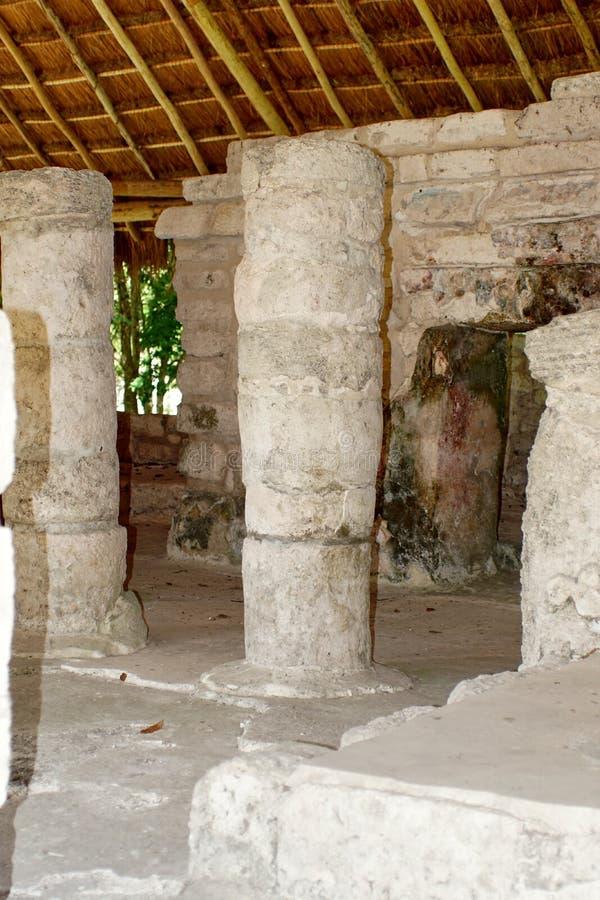 Των Μάγια καταστροφή σε Cozumel, Μεξικό στοκ εικόνα με δικαίωμα ελεύθερης χρήσης