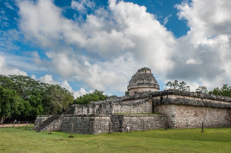 Των Μάγια καταστροφή EL Caracol παρατηρητήριων σε Chichen Itza, Yucatan, Μεξικό στοκ φωτογραφία με δικαίωμα ελεύθερης χρήσης