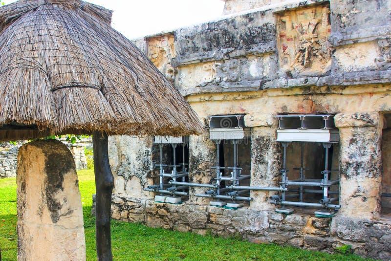 Των Μάγια περιοχή παγκόσμιων κληρονομιών της ΟΥΝΕΣΚΟ καταστροφών του Μεξικού Quintana Roo Tulum στοκ εικόνες με δικαίωμα ελεύθερης χρήσης