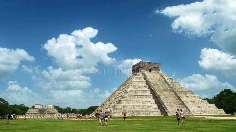 Των Μάγια πυραμίδα Kukulcan EL Castillo σε Chichen Itza, Μεξικό στοκ φωτογραφίες με δικαίωμα ελεύθερης χρήσης