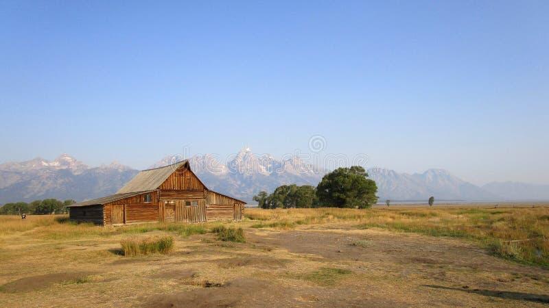 Των Μορμόνων σιταποθήκη στο μεγάλο εθνικό πάρκο Teton στοκ εικόνα με δικαίωμα ελεύθερης χρήσης